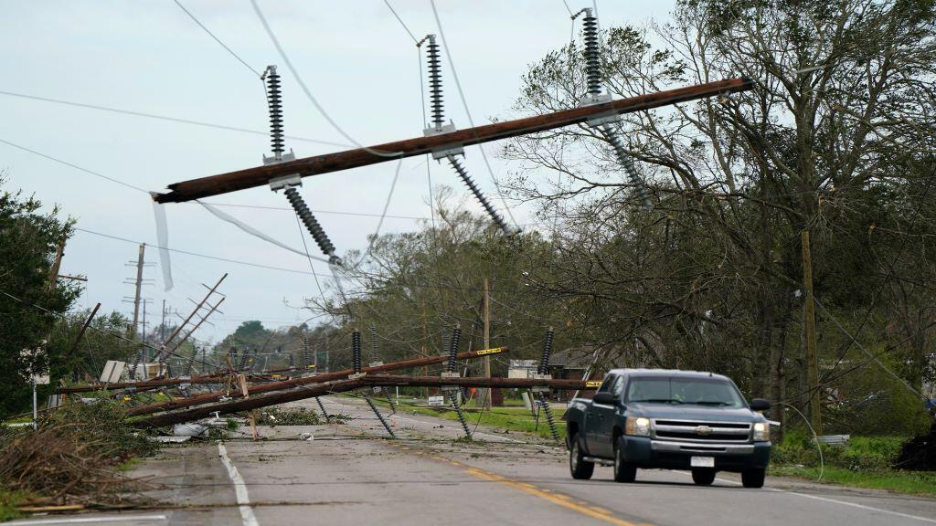 آثار إعصار في لويزيانا