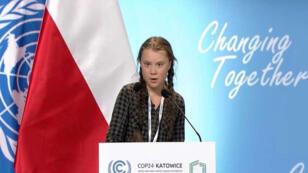 غريتا أمام قادة العالم في مؤتمر المناخ كوب 24