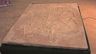 أحد الجداريات التي تمّ استرجاعها لمتحف السودان