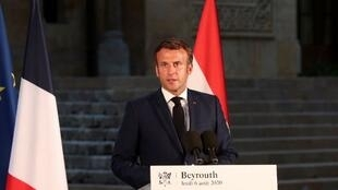 macron conf beyrouth