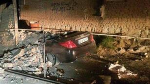 آثار الزلزال الذي ضرب إيران