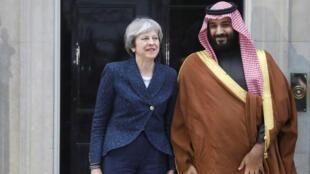 ولي العهد السعودي مع تيريزا  ماي