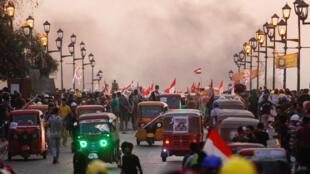 تواصل الاحتجاجات في بغداد يوم 4 نوفمبر 2019