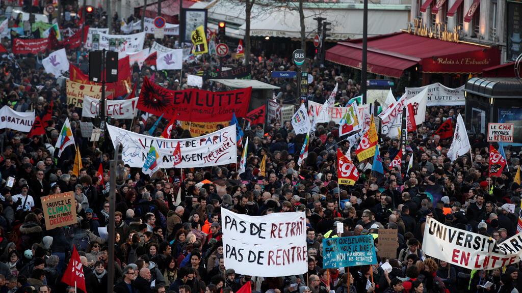 الاحتجاجات في فرنسا