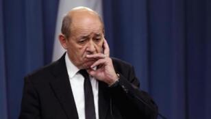 وزير الخارجية الفرنسي جان-إيف لو دريان -