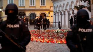 في موقع اعتداء فيينا الإرهابي