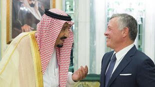 الملك سلمان والملك عبد الله الثاني في مكة