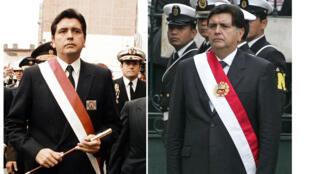تُظهر هذه المجموعة من الصور ، رئيس بيرو آلان جارسيا ، في اليوم الذي تولى فيه منصبه لأول مرة في 28 يوليو 1985 (على اليسار) وفي حفل تنصيبه الثاني في 28 يوليو 2006في ليما