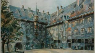 إحدى اللوحات التي رسمها هتلر