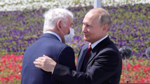 بوتين خلال حفل استقبال في موسكو