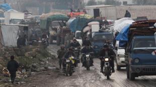 نازحون من إدلب السورية