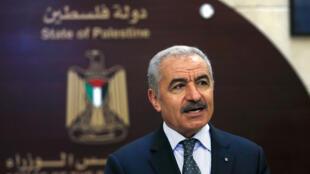 رئيس الوزراء الفلسطيني محمد اشتية في رام الله