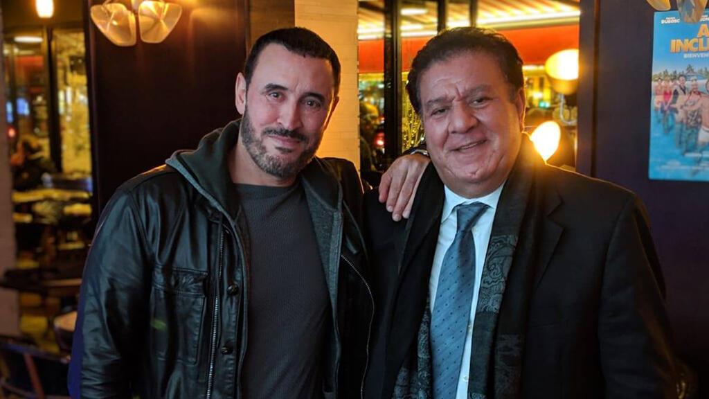 الفنان كاظم الساهر صحبة سعد المسعودي