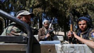 مقاتلون تابعون للحوثيين في صنعاء ( 12-01-2017)