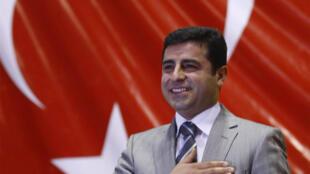 دميرتاش زعيم حزب الشعوب الديمقراطي في أنقرة شباط/فبراير 2010