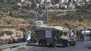 قوات الأمن الإسرائيلية في مستوطنة اليعازر جنوب بيت لحم في الضفة الغربية