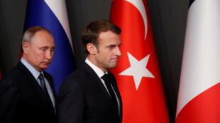 الرئيسان الفرنسي والروسي