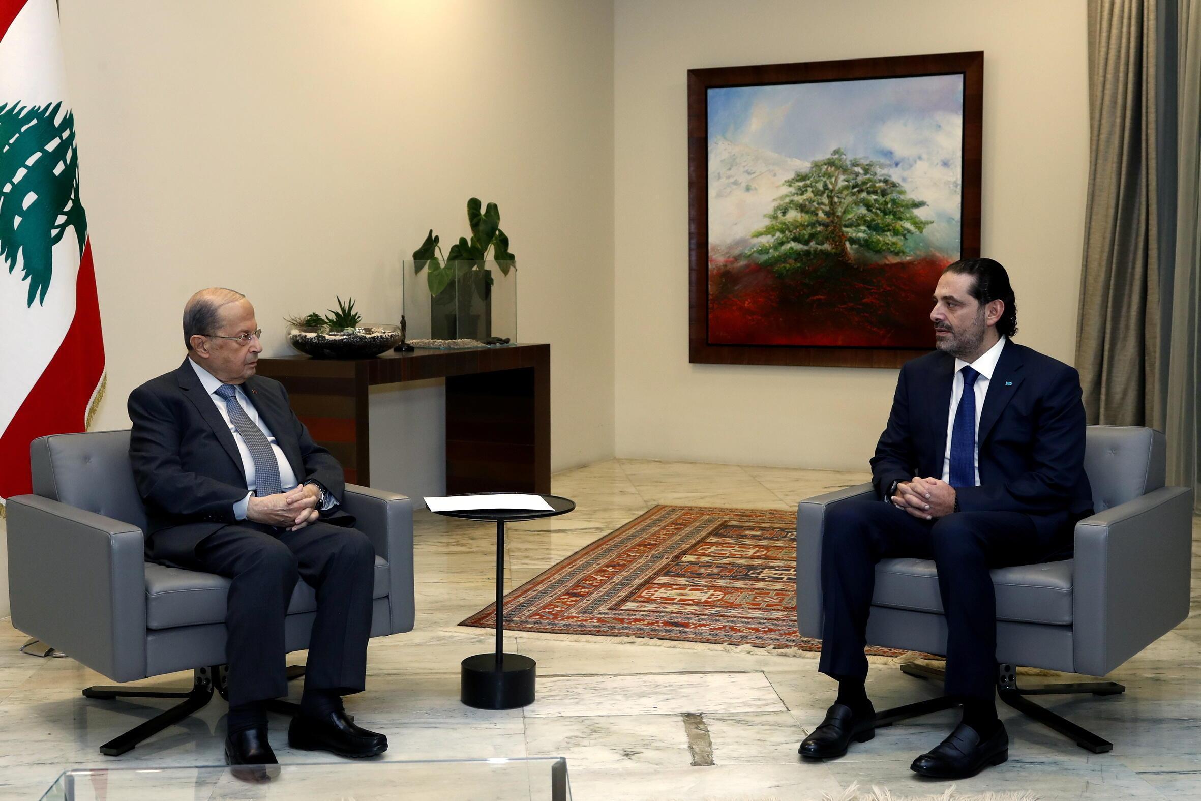 لقاء بين عون وسعد الحريري في قصر بعبدا (أرشيف)