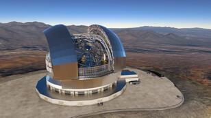 صورة للمخطط التفصيلي لأكبر تلسكوب في العالم