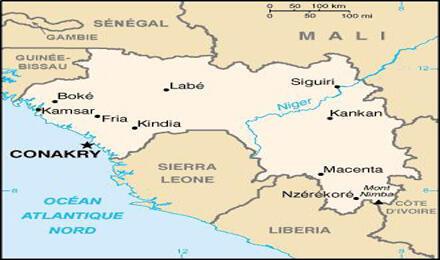 خريطة غينيا