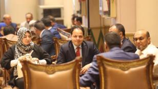 أعضاء من الوفد الليبي في مصر