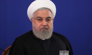 الرئيس حسن روحاني في اجتماع مع موظفي وزارة خارجية الجمهورية الإسلامية في طهران في 6 أغسطس 2019