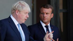الرئيس الفرنسي ورئيس الوزراء البريطاني