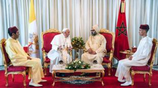 البابا فرنسيس والملك المغربي محمد السادس