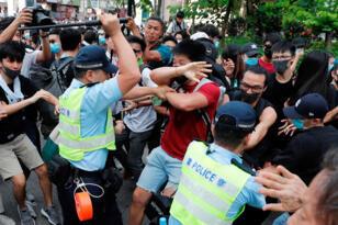 مواجهات مع الشرطة في هونغ كونغ