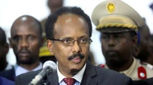الرئيس الصومالي محمد عبد الله محمد المعروف باسم فارماجو