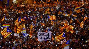 متظاهرون يطالبون باستقلال كاتالونيا يوم السبت 16-03-2019