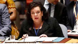كارين بيرس مندوبة المملكة في الامم المتحدة-
