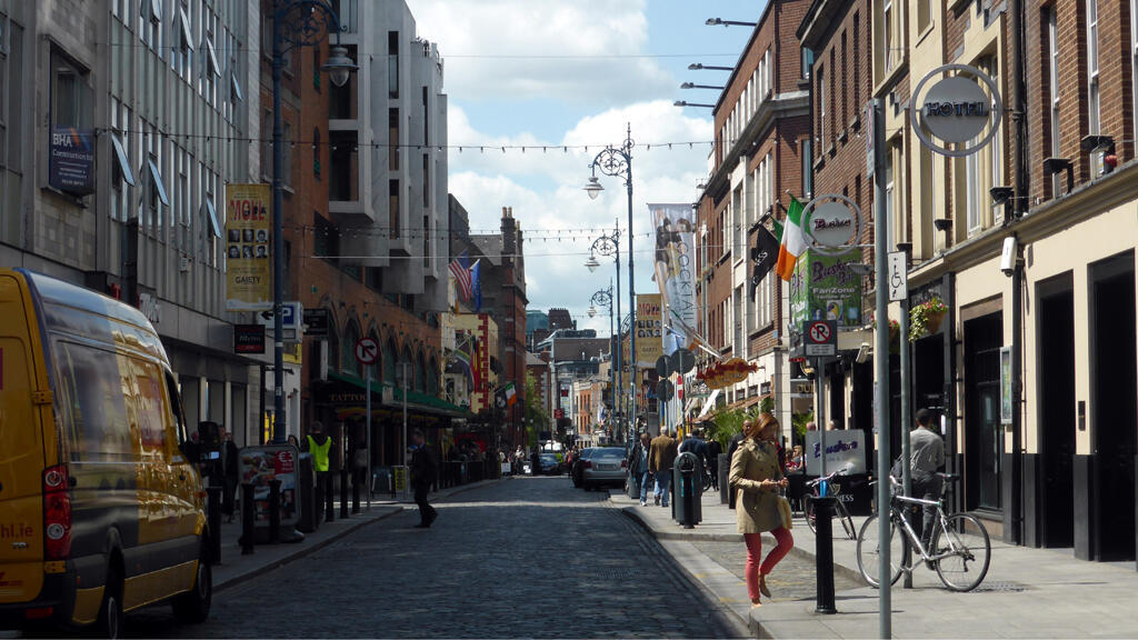 شارع في مدينة دبلن - إيرلندا