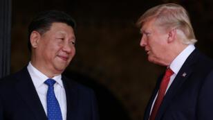 الرئيس الأمريكي دونالد ترامب والصيني شي جين بينغ