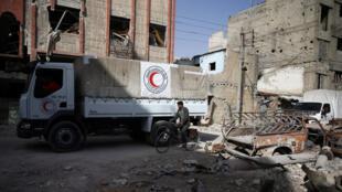 الهلال الأحمر في منطقة دوما (05-03-2018)