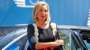 المفوضة العليا لشؤون الأمن والسياسة الخارجية في الاتحاد الأوروبي فيديريكا موغيريني