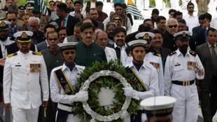 خلال الاحتفال بعيد الاستقلال في باكستان-