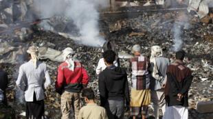قوات التحالف تقصف متجراً  للإلكترونيات في صنعاء 14-02-2016