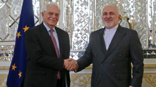 وزير خارجية الاتحاد الأوروبي يلتقي بوزير الخارجية الإيراني جواد ظريف في طهران