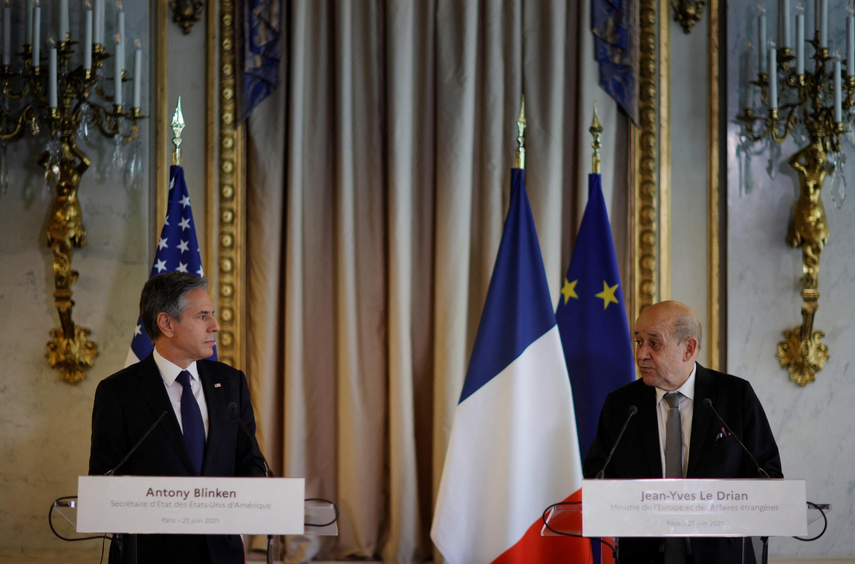 وزيرا خارجيتي فرنسا وأمريكا