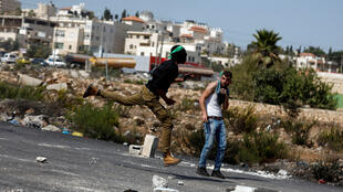 قرية خان الأحمر  التابعة للسلطة الفلسطينية ،في الأراضي المحتلة الضفة الغربية