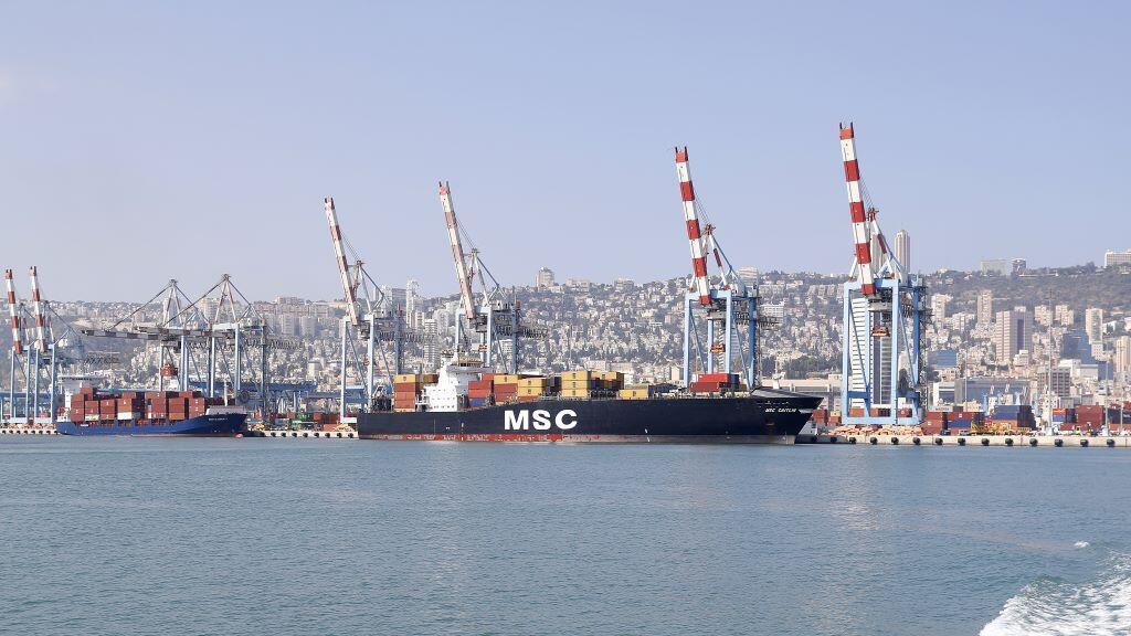 port of Haifa in northern Israel.