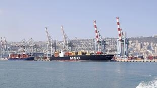 port of Haifa in northern Israel.