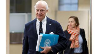 مبعوث الأمم المتحدة إلى جنيف، ستافان دي ميستورا (رويترز)