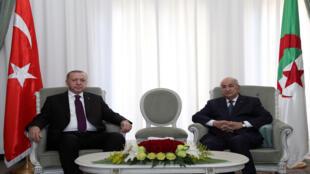 الرئيس الجزائري ونظيره التركي