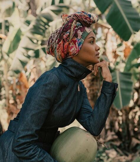 ارضة الأزياء هذه الأمريكية من أصل صومالي