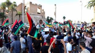 مظاهرات ضد الحكومة في العاصمة الليبية طرابلس