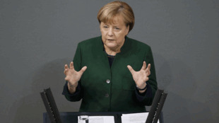 انغيلا ميركل تلقي كلمتها أمام البرلمان الألماني يوم 23 نوفمبر 2016