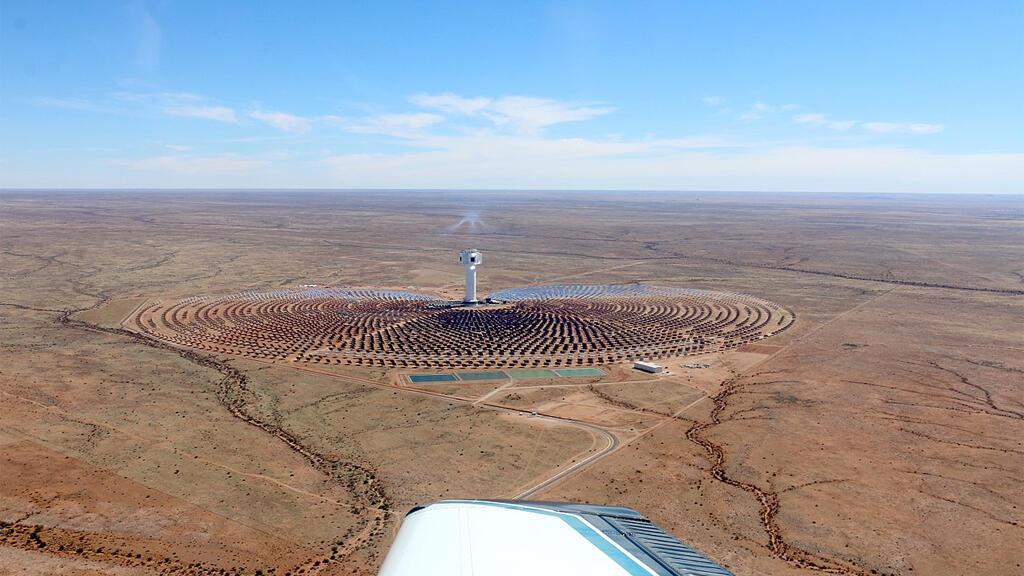 """محطة لاستخدام الطاقة الشمسية في منطقة """"كاب""""، أفريقيا الجنوبية"""