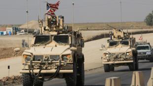 موكب القوات الأميركية يدخل العراق